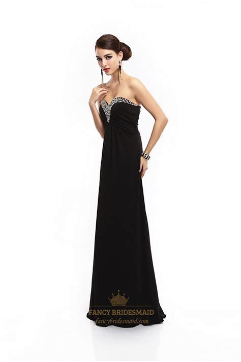 beaded empire waist dress black sweetheart prom dress with beaded neckline and