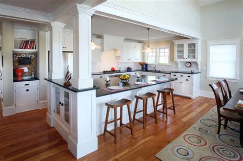 kitchen island with columns house kitchens style kitchen philadelphia by asher associates architects