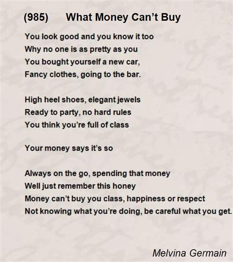 can you make a money order with a credit card 985 what money can t buy poem by melvina germain poem