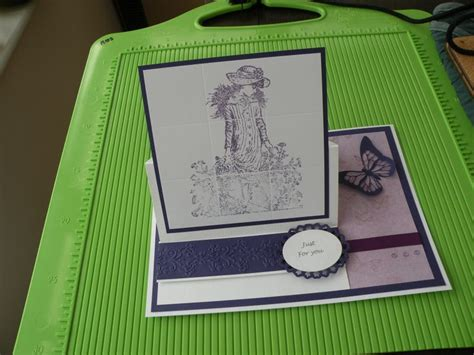 card stin up stand up card with faux tiles design card ideas