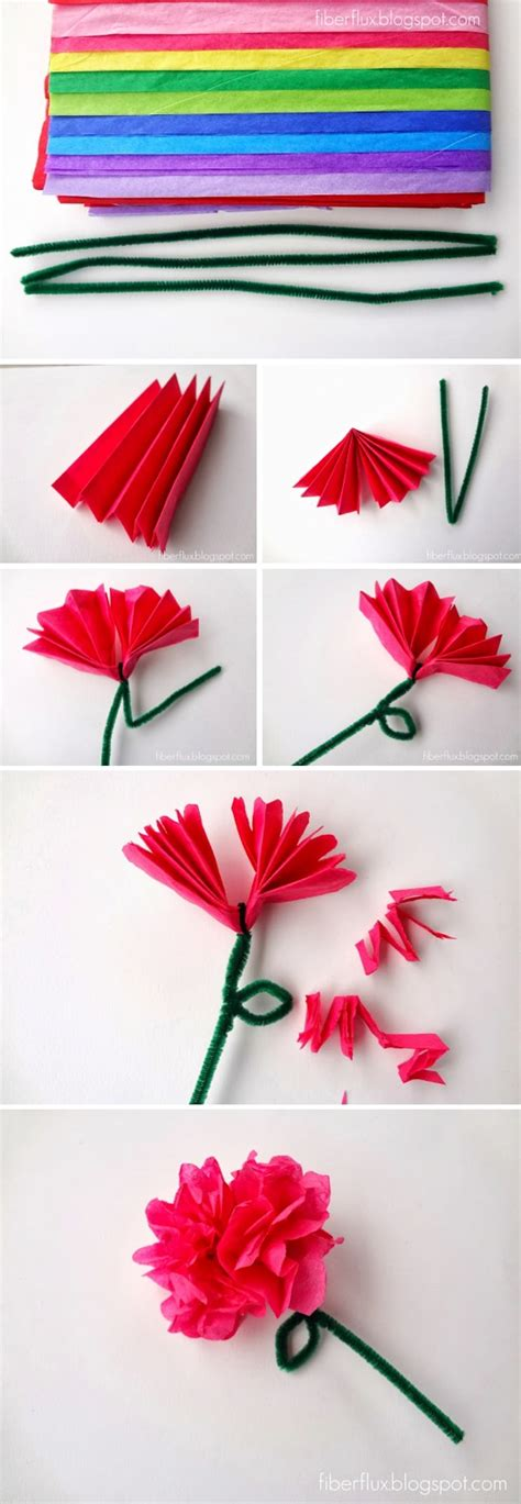 paper flowers craft easy tissue paper flowers