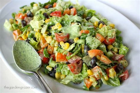 The Garden Grazer: Southwestern Chopped Salad with