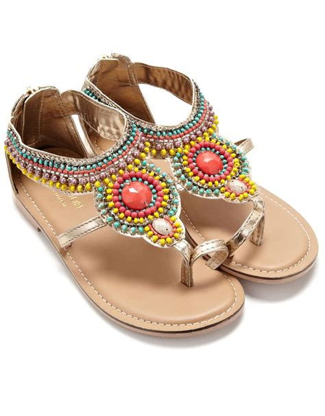 beaded sandals ethnic beaded sandal gold monsoon swagg babies