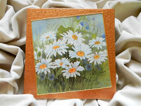 decoupage painting techniques decoupage technique painting field of daisies