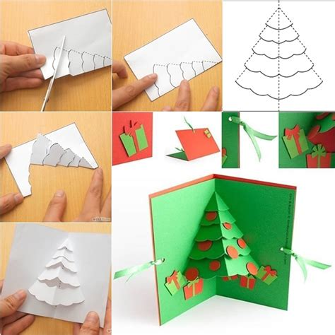 how to make a pop up card wonderful diy tree pop up greeting card