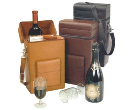 wine carrying leather leather wine with glasses leather wine connoisseur