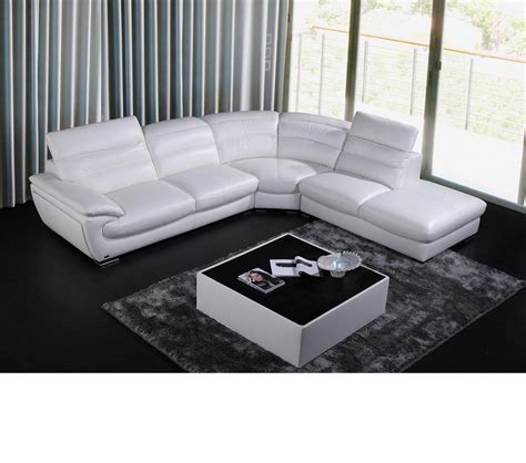 contemporary leather sectional sofa dreamfurniture 8468 contemporary white leather