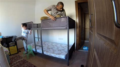 build bunk bed time lapse build ikea tuffing bunk bed