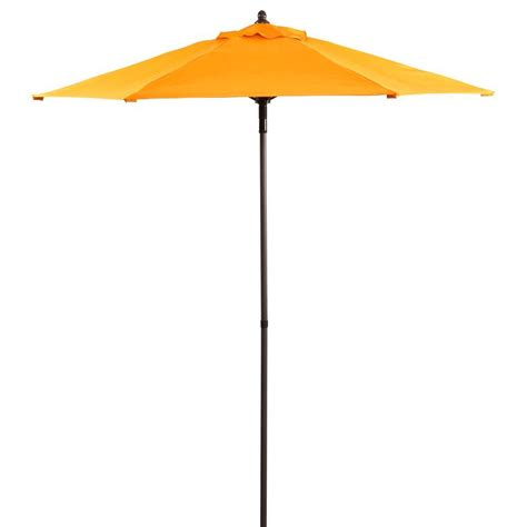 5 ft patio umbrella 7 5 ft patio umbrella in orange uts00203e orange the