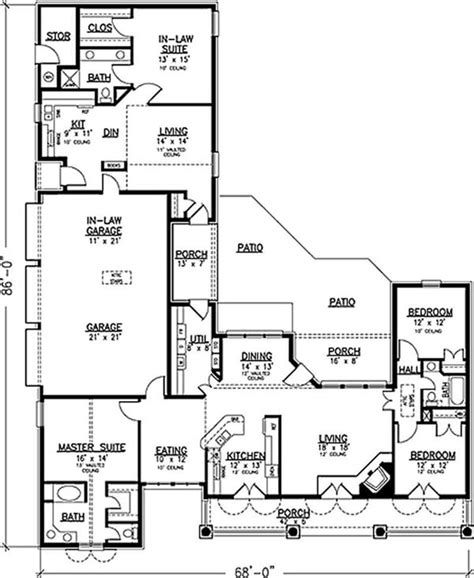 house plans with inlaw apartments southern country house plans home design 20944