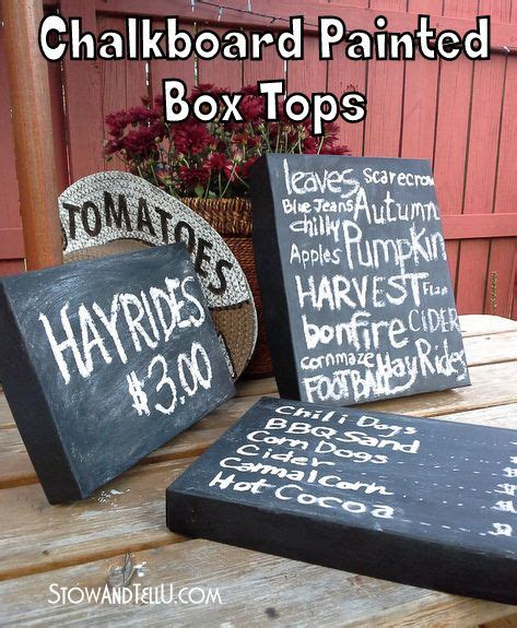 chalkboard paint craft projects 25 unique painted boxes ideas on painted