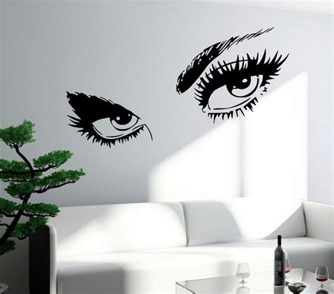 Flower Wall Stickers For Bedrooms wall sticker sexy hot eyes girl teen woman big decal for