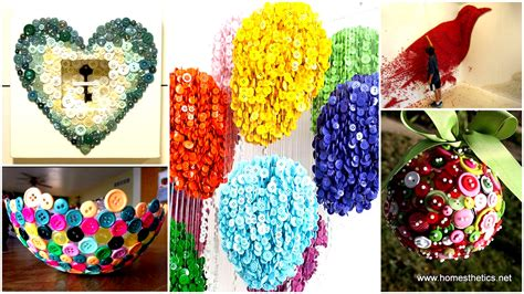 Kitchen Wall Decor Ideas Diy colorful fun diy buttons projects you can start any time