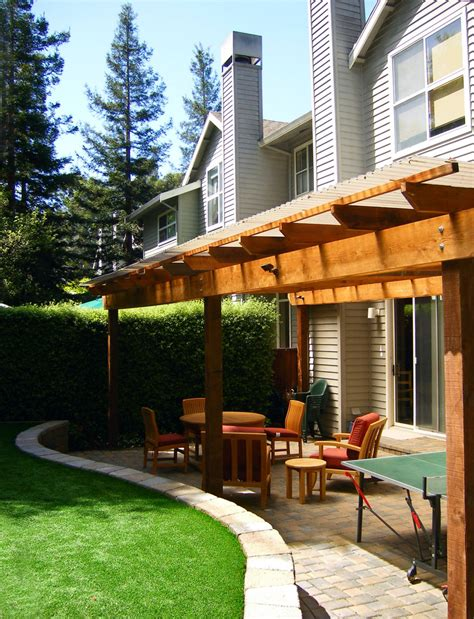 backyard wood patio wood patio covers patio contemporary with artificial turf