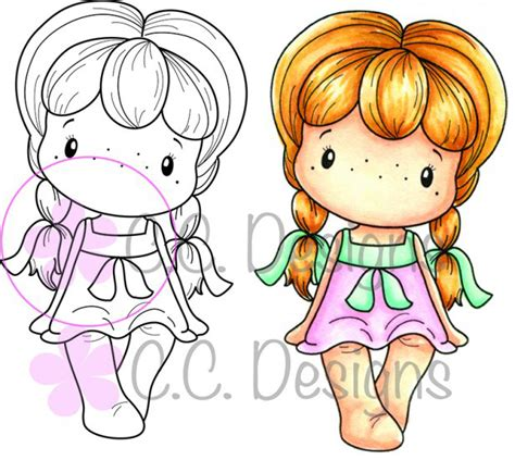 cc designs rubber sts cc designs swiss pixie collection cling mounted rubber