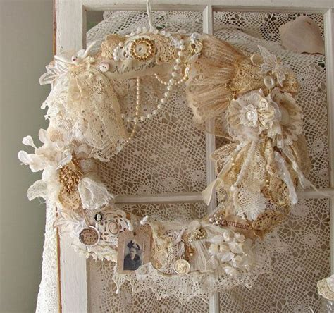 lace crafts projects 25 unique shabby chic ideas on