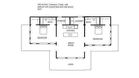 split bedroom floor plans the aloha 2 2 split bedroom floor plan