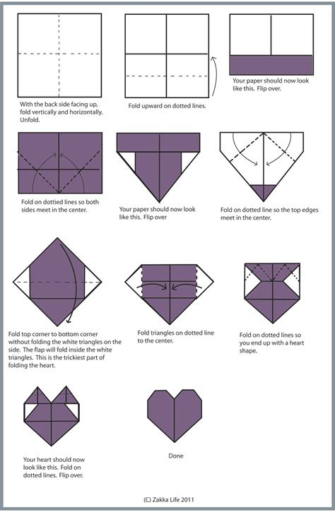 origami money step by step zakka craft origami valentines