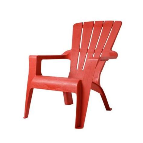 plastic patio chairs home depot us leisure chili patio adirondack chair 167073 the home