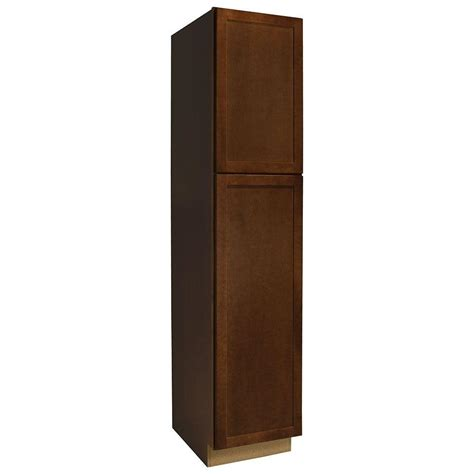 home depot kitchen pantry cabinet hton bay assembled 18x84x24 in shaker pantry cabinet