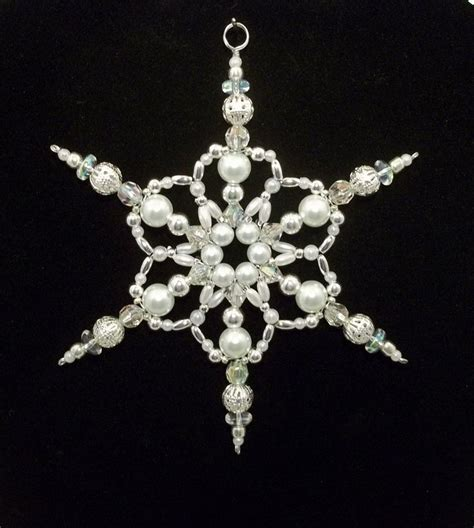 beaded snowflake ornaments 25 best ideas about beaded ornaments on