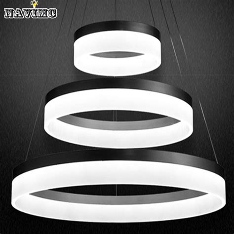 two pendant light fixture modern two rings led pendant light arcylic led ring