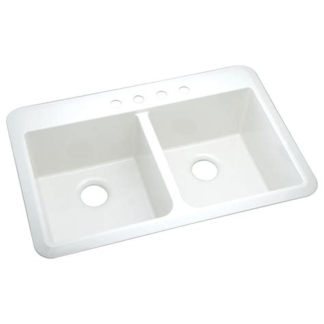 kitchen sink composite shop sterling slope 22 in x 33 in white 2 composite