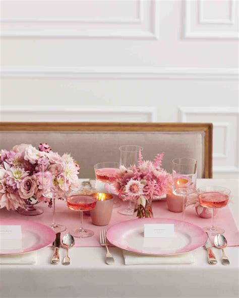 bridal shower table pink bridal shower ideas and decorations we martha