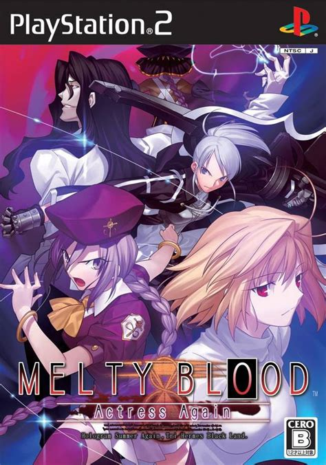 melty blood melty blood again box for playstation 2