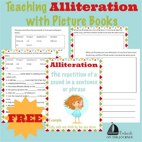 picture books with alliteration teaching alliteration with picture books embark on the