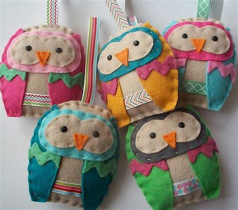 felt paper crafts felt owl ornament craft kit by paper and string