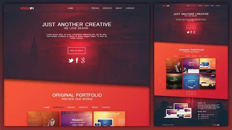 design layout design a creative portfolio web design layout in photoshop