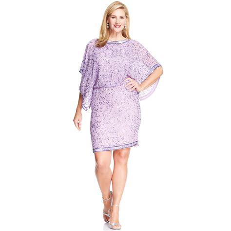 plus size beaded dress patra plus size kimonosleeve beaded dress in purple lilac