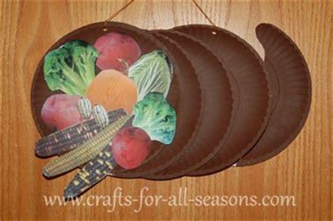 paper plate food crafts paper plate cornucopia