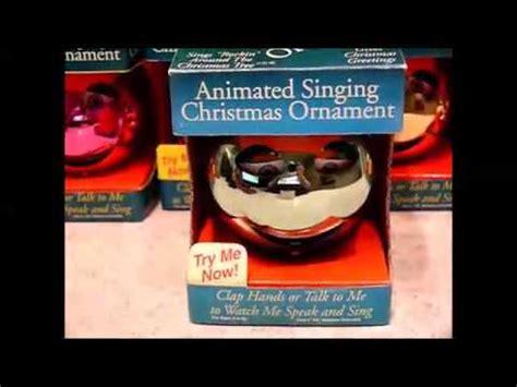 animated singing ornament pbc animated singing ornament