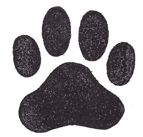 print rubber st paw print sts