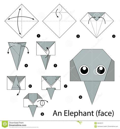 how to make origami elephant step by step how to make origami an elephant