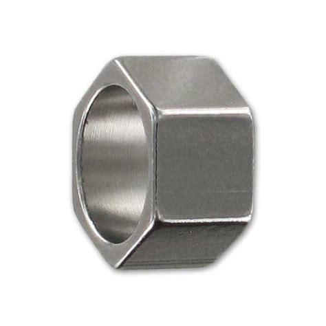 steel beading bead nut 10x6mm in stainless steel x1 perles co