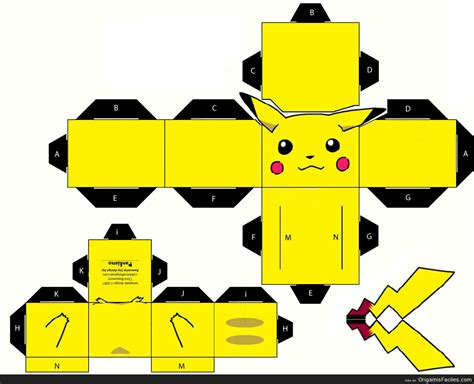 3d paper craft template 19 best photos of 3d papercraft pikachu