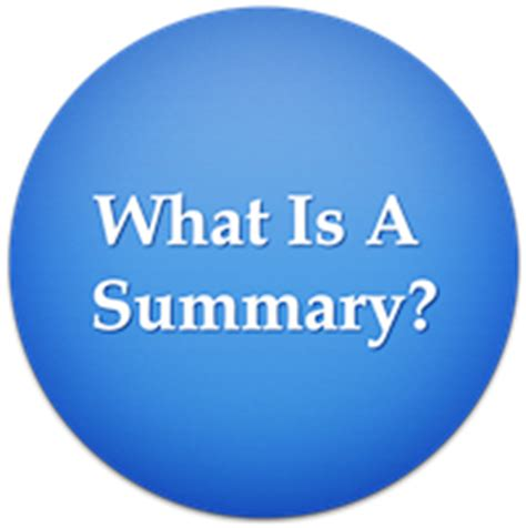 what is what is a summary