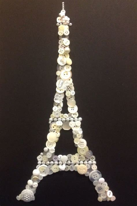 eiffel tower crafts for button craft eiffel tower black an white for