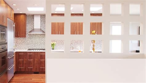 kitchen partition wall designs the partition wall did you use any special lighting
