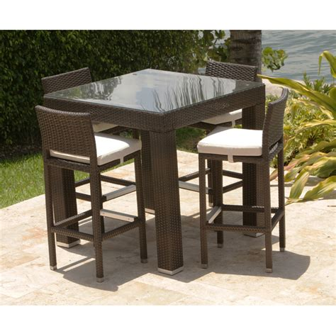 patio bar furniture set wicker patio bar table set