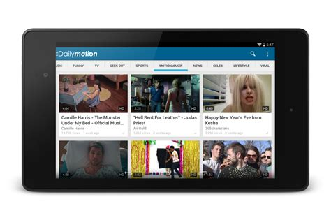 on dailymotion dailymotion updates android app with new design