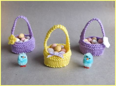 easter free knitting patterns marianna s lazy days sweet easter baskets
