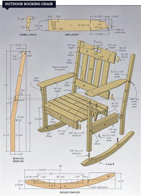 rocking woodworking plans outdoor rocking chair plans woodarchivist