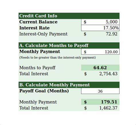 how to make mortgage payment with credit card sle credit card payment calculator 9 documents in excel