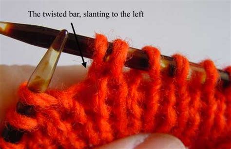 make one left knitting make one