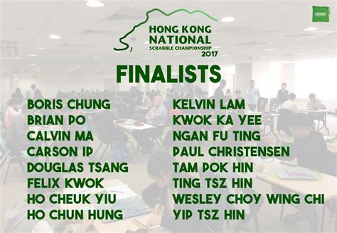national scrabble chionship tournament report hong kong national scrabble