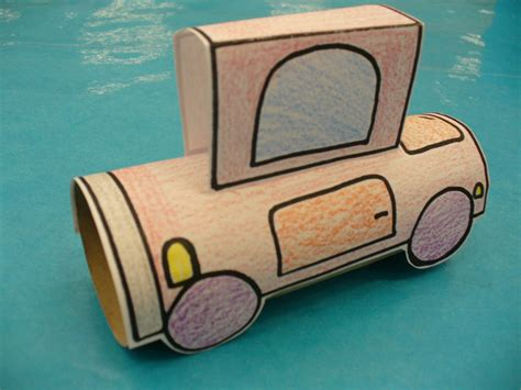 toilet paper roll car craft robin craft ideas
